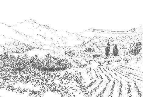 Dessins puis peinture amateur - Dessiner un paysage ...